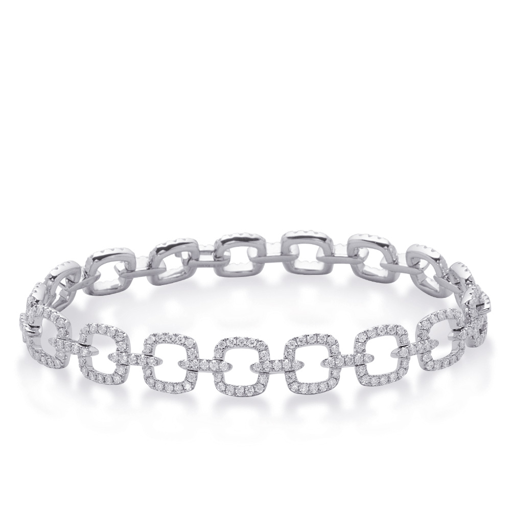 diamond medium sterling unique scott thin basketweave kay silver bracelet