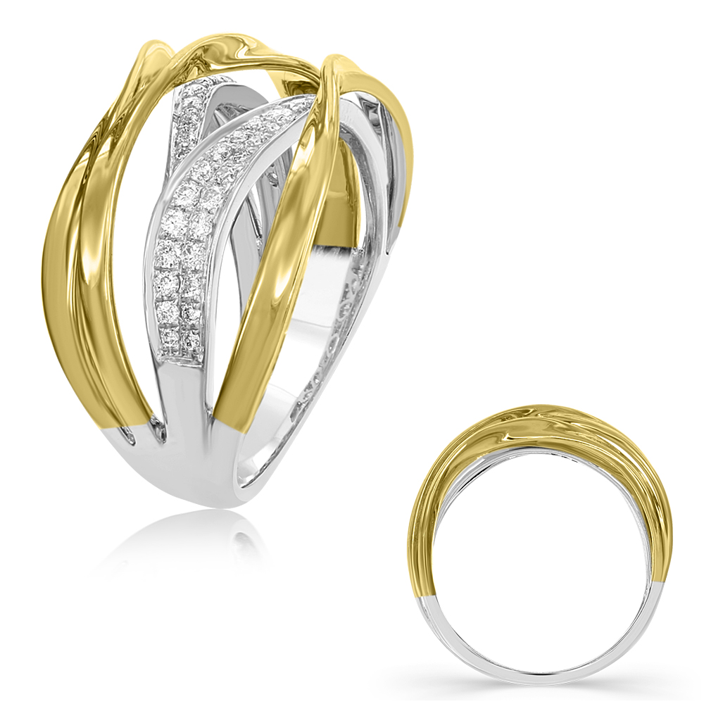 white diamond in si ring fashion petite i gold h