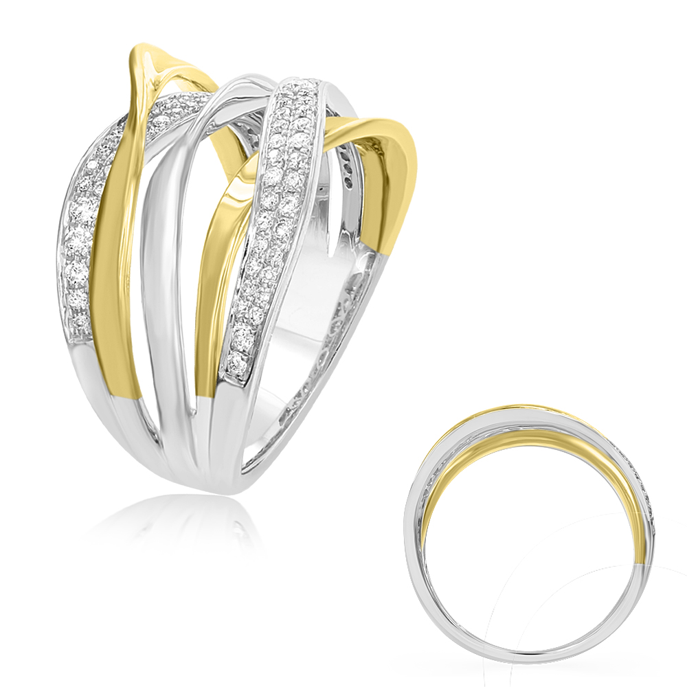 rings gold white kavar engagement ring fashion diamond